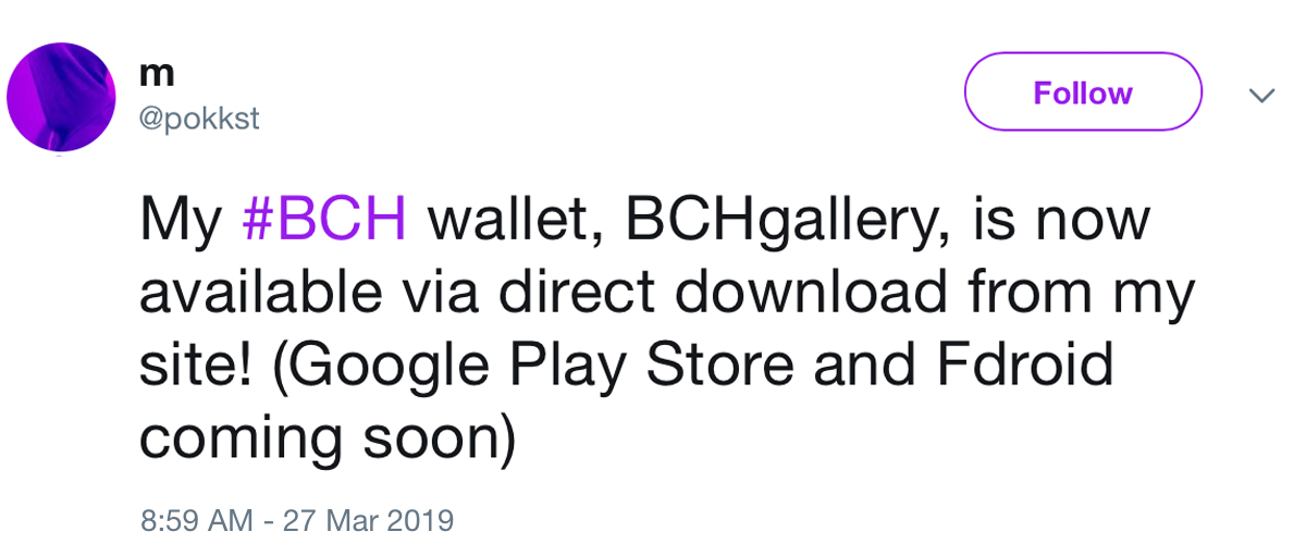 This Photo Gallery App Is a BCH Light Wallet in Disguise